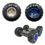 Оригинал Smart Robot Авто Аксессуары 130 мм Диаметр Синий / Серебряный резиновый Костюм для колес M4 Сцепление