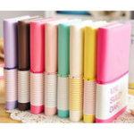 Оригинал Candy Colours Очаровательная смайлик Бумага для дневников Ноутбук Memo Book leather Note Pads Канцелярские товары Pocketbook