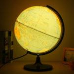 Оригинал 110V Blue Ocean World Earth Globe Map Вращающийся ночной свет Обои для рабочего украшения