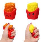 Оригинал Cute Face Emoji French Fries Squishy 10CM Slow Rising Straps Кулон Soft Сжатие Ароматические Хлебные игрушки
