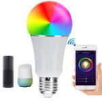 Оригинал E27 7W SMD5050 600LM RGBW WIFI APP Control LED Умная лампочка для Alexa Главная страница Google AC85-265V