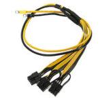 Оригинал Графическая карта PCI Express Коннектор Кабель питания для ПК Процессор Molex 8pin для 2 PCI-e 8 (6 + 2) pin Mining