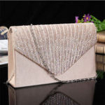 Оригинал Women  Evening Bridal Wallet Envelope Flash Diamond Clutch