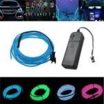 Оригинал Батарея Powered 3M 8 цветов Гибкий изгиб Neon EL Провод Свет для декорации танцевальной вечеринки DC3V