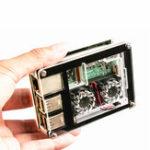 Оригинал 3-in-1 9 Слои Акриловые Чехол + Двойной вентилятор + Медь Теплоотвод Набор Для Raspberry Pi 3 Model B