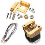 Оригинал Алюминиевый экструдер Вперед или обратный кронштейн направления Набор С NEMA 17 Stepper Мотор Для 3D-принтера