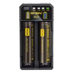 Оригинал Basen BC2 Smart Li-ion Батарея Зарядное устройство для 14500 18650 26650 21700 Батарея 2Slots