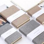 Оригинал 72k 128 листов Портативный ноутбук Blank Paper Linen Cover Дневник Memo Sketchbook Office Школа