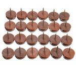 Оригинал 24Pcs 20mm Round Ногти Anti-Sliding Felt Pad Skid Glide для деревянных столов для мебели Стул Ноги Ноги