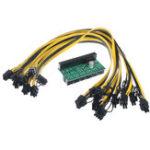 Оригинал Плата адаптера питания блока питания DPS-1200FB с кабелем 10Pcs 6 + 2P для Ethereum Mining