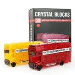 Оригинал Творческий IQ 3D Кристалл головоломки Jigsaw Блоки Сборка автобуса Авто Модель DIY Игрушки