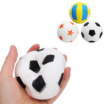 Оригинал Jumbo Football Volleyball Squishy Slow Rising Cute Phone Straps Спортивный мяч Fun Kid Toy