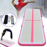 Оригинал 118x35,4x4дюймов Надувная гимнастика Tumbling Mat Home Gym Air Pad Floor Pad с Насос