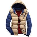 Оригинал Мужская нижняя хлопчатобумажная ткань с капюшоном Warm Тонкий Мягкая куртка