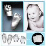 Оригинал Отпечатки рук Следы Baby Hands Amp Foot 3D DIY Литье под штукатурку Mini Набор