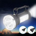 Оригинал Солнечная Powered портативный фонарик LED Кемпинг фонарь перезаряжаемый На открытом воздухе Emergency Лампа AC110-240V