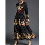 Оригинал Цветочный печатный Maxi Swing Платье
