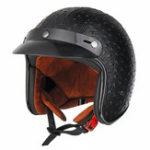 Оригинал Открытое лицо 3/4 мотоцикл Шлем Ретро Винтаж Кожа PU Для взрослых Черный Коричневый