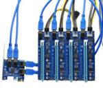 Оригинал PCI-E от 1 до 4 портов USB 3.0 PCI Express Слот расширения платы адаптера питания