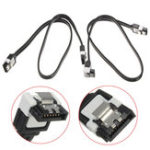 Оригинал 2Pcs SATA 3.0 III SATA3 6 Гбит / с HDD SSD Данные жесткого диска Прямые / прямоугольные кабели Черный