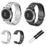 Оригинал Замена нержавеющей стали Стандарты Металлический ремешок для Garmin Fenix 3/3 HR Watch