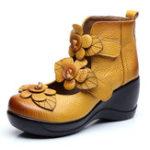 Оригинал SOCOFYЖенскоеЦветочныйретроКрюкLoop Shoes