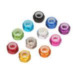 Оригинал Suleve™M4AN110PcsM4Самоблокирующийся Nylon Гайка алюминиевого сплава Многоцветный