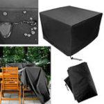 Оригинал ПатиоЗащитнаямебельнаяобивкаЧерныйпрямоугольный сверхбольшой Водонепроницаемы Пылезащитный складной столик и стул