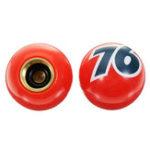 Оригинал Спорт Велоспорт 4шт. Номер 76 Пластиковые красные универсальные шины Шины для пневматического клапана Штопоры крышки для мотоциклов