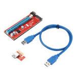 Оригинал Ver007s USB 3.0 PCI-E 1x до 16x Extender Riser Card Adapter Cable Биткойн GPU Mining