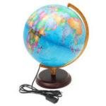 """Оригинал 12.5 """"Всемирная карта земного шара География LED Освещенная для украшения украшений для рабочего стола для детей"""
