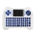 Оригинал Sungi T16 Blue Backlit 2.4G Wireless White Mini Клавиатура Сенсорная панель Air Мышь