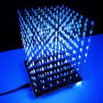 Оригинал DIY WIFI APP 8x8x8 3D Light Cube Набор Blue LED MP3 Music Spectrum Electronic Набор Нет корпуса