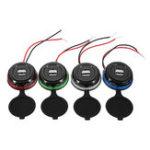 Оригинал 12-24V 3.1A Двойной USB Авто Зарядное устройство LED Индикатор