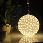 Оригинал Очаровательная 50 LED Теплый белый цветочный шар Фея Ночной свет Рождество Свадебное Партийный декор