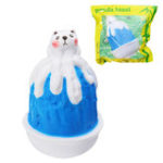 Оригинал Squishy Blueberry Кот Ice Cream Snow Cone Sorbet Smoothie Toy 16см Медленное продвижение с упаковкой