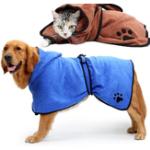 Оригинал СобакаХалатТеплыйСобакаОдеждаАбсорбирующая сушка для домашних животных Полотенце Вышивка Paw Кот Кастрюля для домашних животных По
