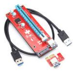 Оригинал 0.6m 6 Pin PCI-E Express 1X TO 16X Extender Riser Board адаптер для кабеля для горнодобывающей промышленности