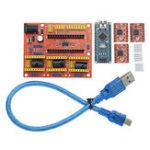 Оригинал CNC Shield V4 + с Nano 3.0 A4988 3-х уровневая шаговая плата для Arduino