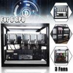 Оригинал DIY Шахтер Майнинг Чехол Радиальная шахта Minar Rig Чехол W / 3x для 6 GPU ETH BTC Ethereum