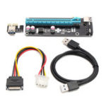 Оригинал 60 см USB 3.0 PCI-E Express 1x до 16x Extender Riser Card адаптер питания для биткойн-майнинга