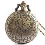 Оригинал DEFFRUNРетроБронзовыйкомпасШаблонКварцевые карманные часы