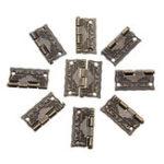 Оригинал 50Pcs Антикварный деревянный подарок Коробка Упаковка для печатной машины с шарниром Чехол Защитные петли для петли 26 × 23 мм