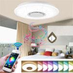 Оригинал 24 Вт с возможностью затемнения для скрытого монтажа LED Потолочный светильник Кулон Лампа с Bluetooth Динамик AC95-265V