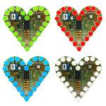 Оригинал Сердце Shaped Light Набор DIY Детали для дыхания Красный Зеленый Синий Белый Цвет Дополнительно