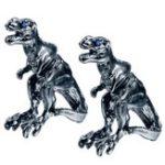 Оригинал Unisex Punk Alloy Tyrannosaurus Rex Blue Rhinestone Уши Stud