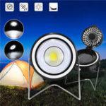 Оригинал Портативный Солнечная Powered COB Рабочий свет Вращающийся вентилятор USB Зарядка чрезвычайной ситуации Кемпинг Лампа