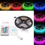 Оригинал 5M 60W SMD5050 Неводный водонепроницаемый RGB LED Strip Light + WiFi-контроллер работает с Alexa DC12V