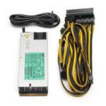 Оригинал DPS 1200FB 1200W Источник питания C Адаптер прорыва 12 Кабели для Ethereum Mining