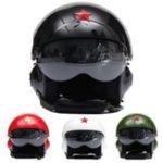 Оригинал Мотоцикл Scooter Открытый Лицо Шлем ВВС Jet Pilot Flight Double Lens